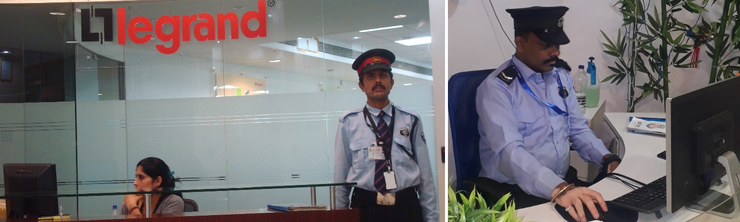 Security Guard in Office working